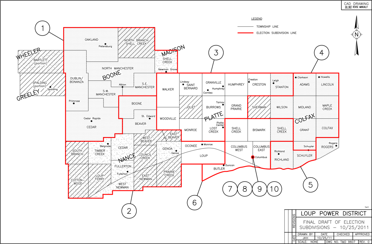 Loup Power District subdivision boundaries