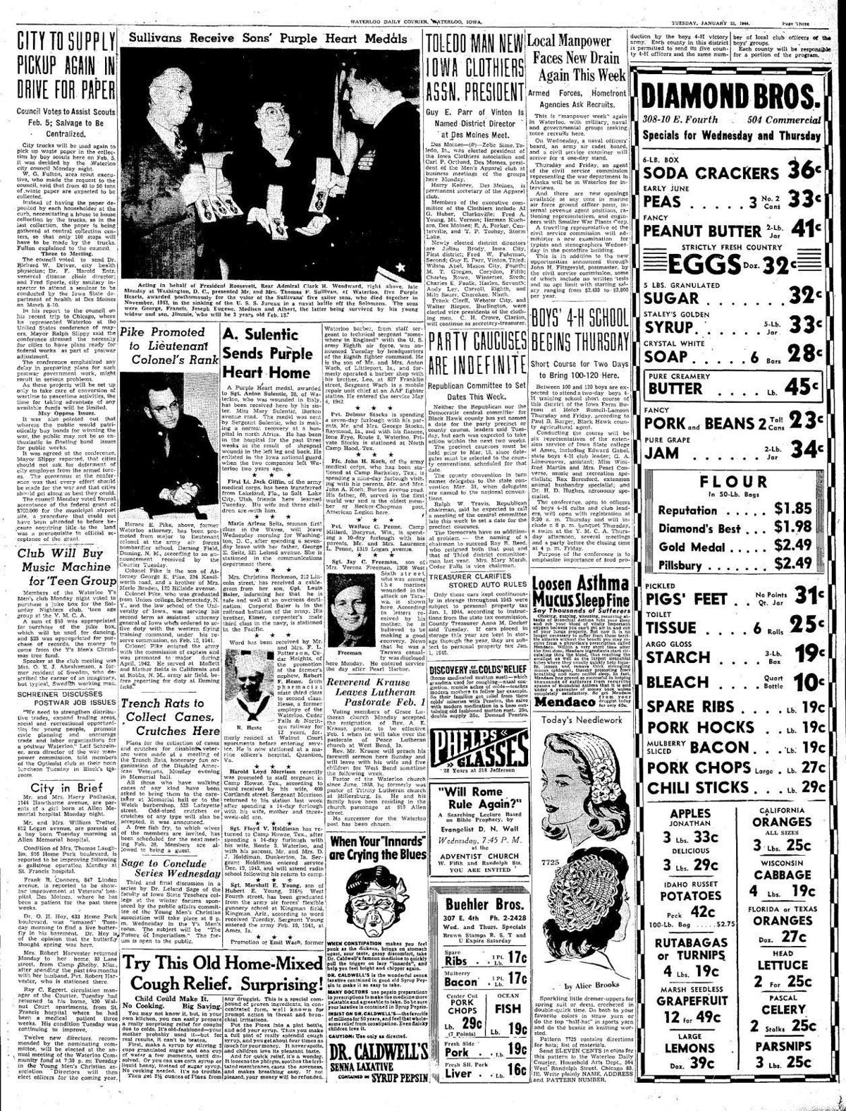 Courier Jan. 25, 1944