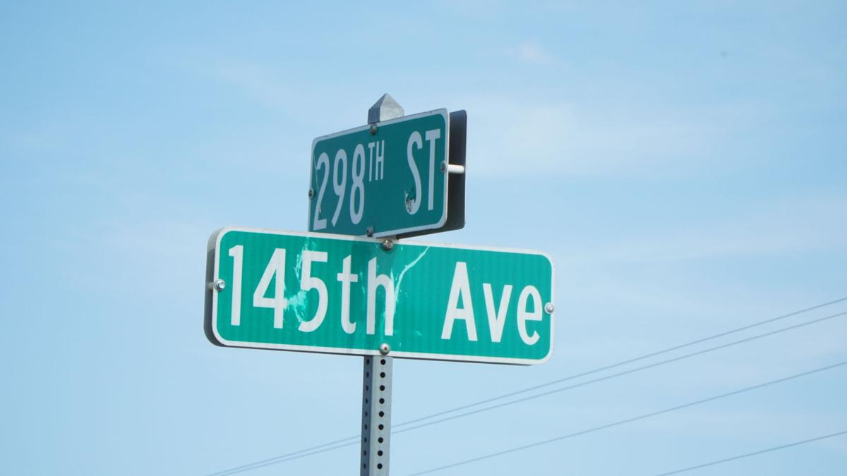 298th Street and 145th Avenue signs