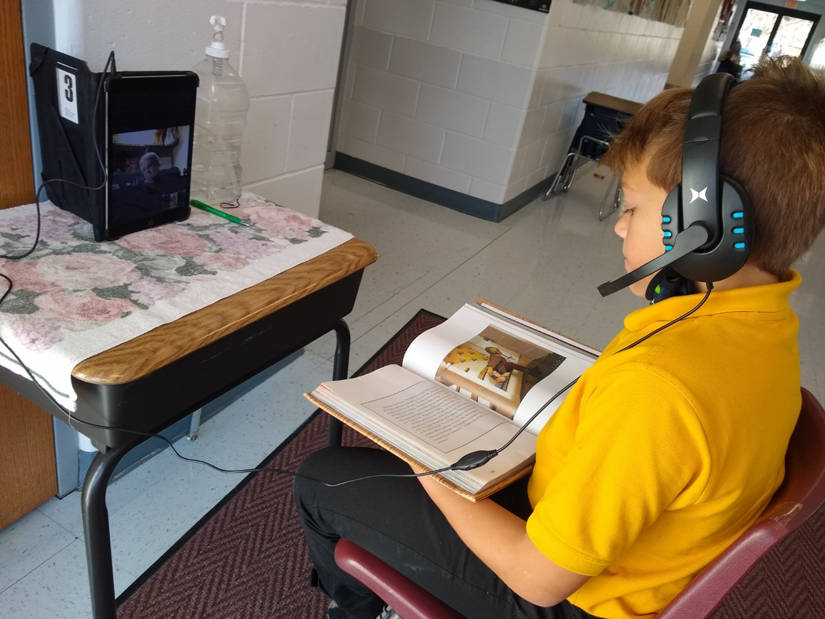 St. Mary's students read over Zoom 2