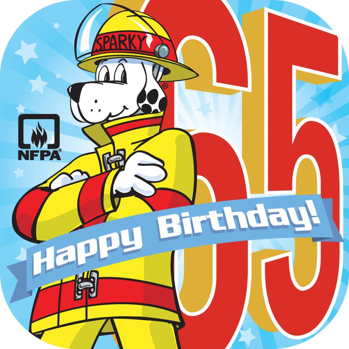 Sparky The Fire Dog Kicks Off His 65th Birthday Bucket List Celebration
