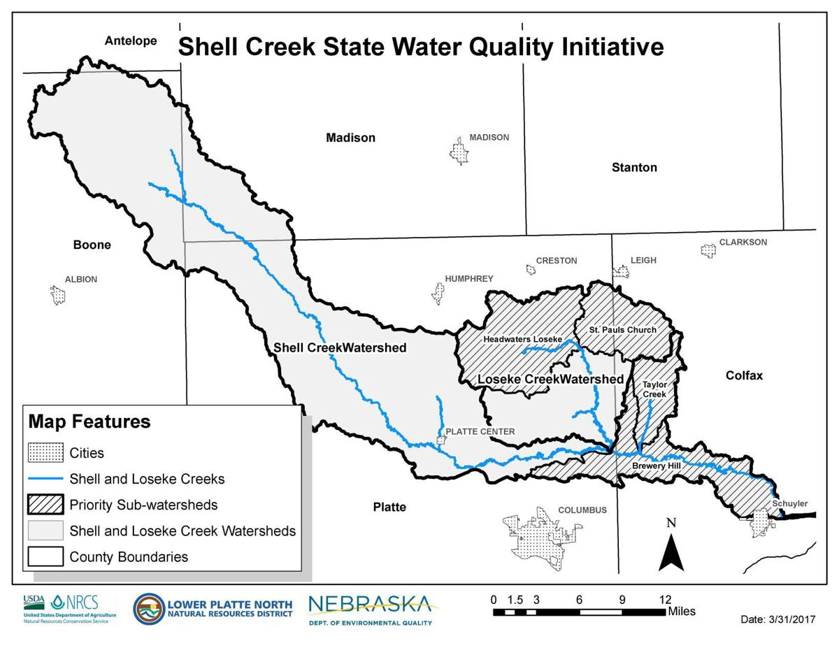 Shell Creek Water Quality Initiative MAP