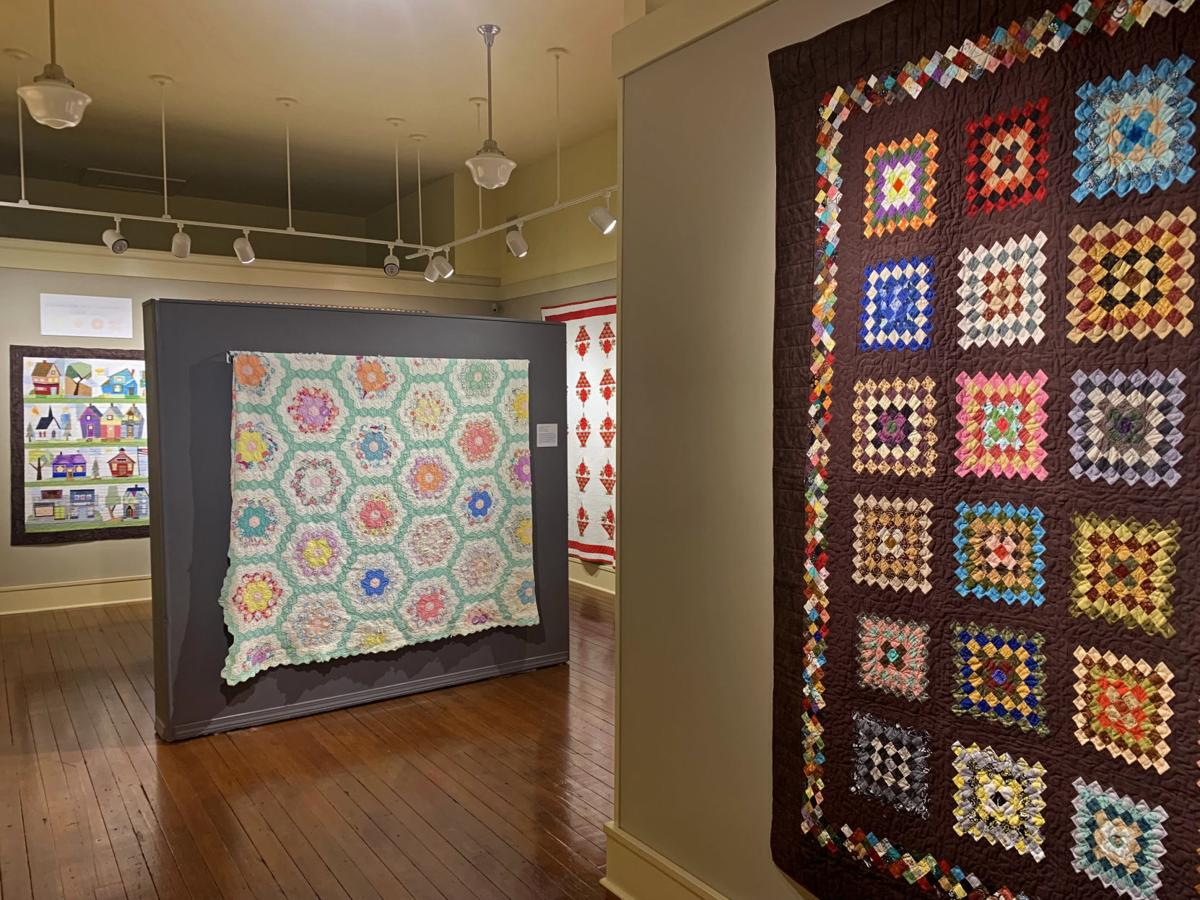 Quilts on display at Bone Creek Museum 1