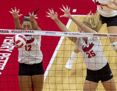 Nebraska volleyball vs. Wisconsin, 10.5