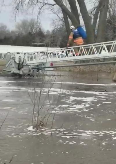 Brandenburg Lake rescue