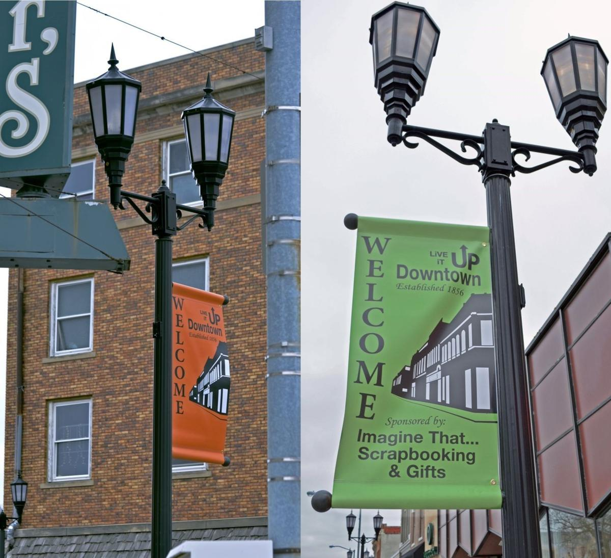 Downtown banners