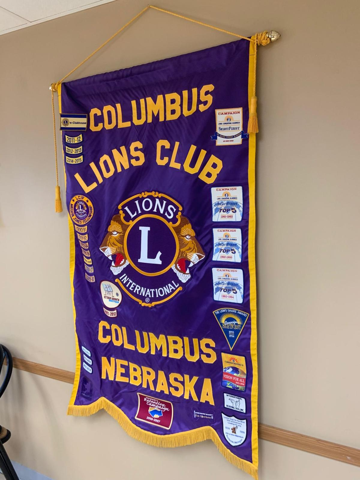 Columbus Noon Lions Club banner