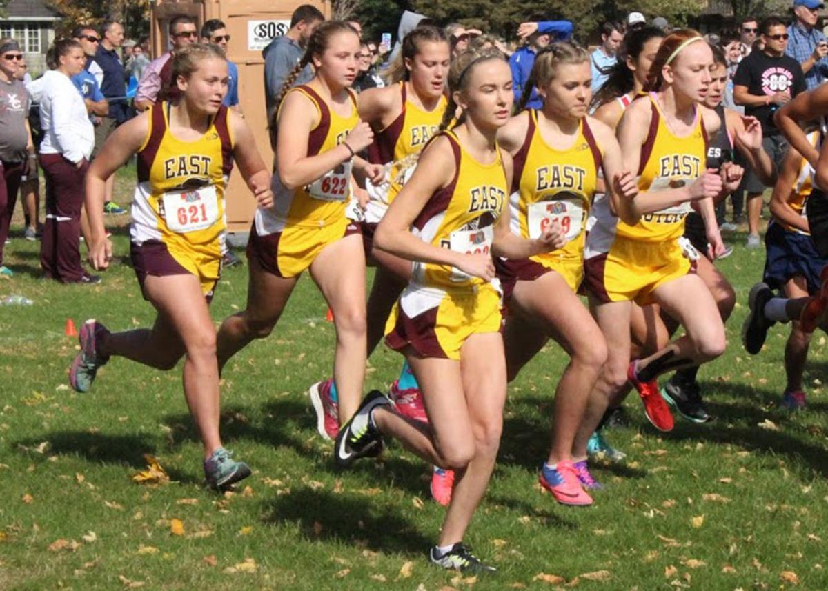 East Butler Girls cross country team