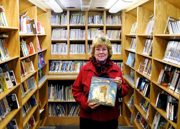 Karen Hake, bookmobile librarian