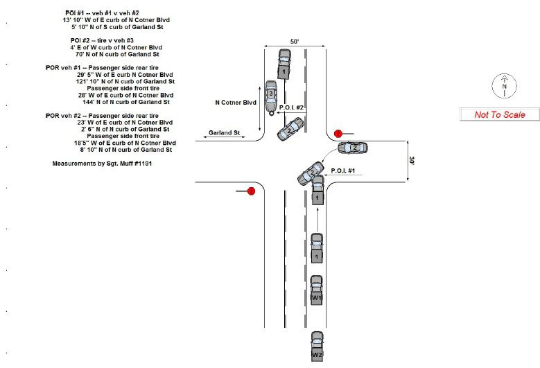 Camden King fatality crash diagram