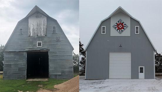 Vandenberg barn, before and after