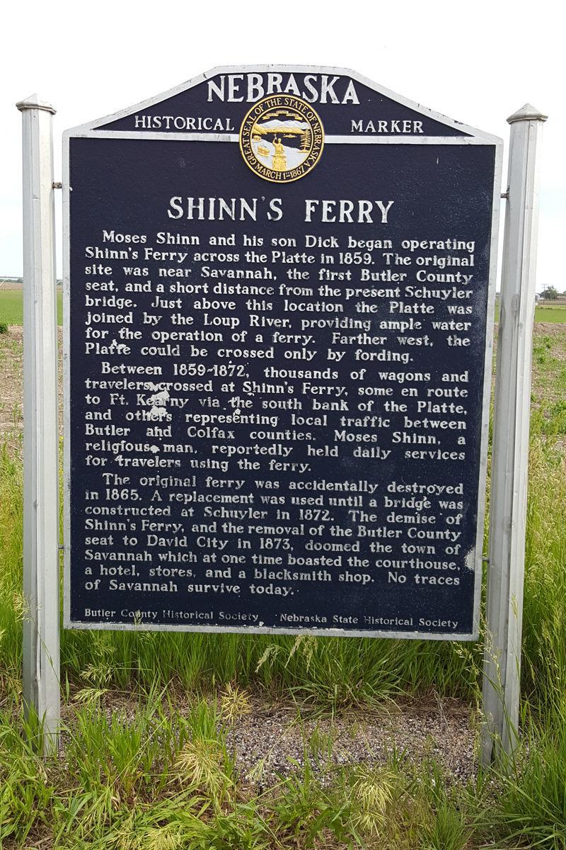 Shinn's Ferry historical marker