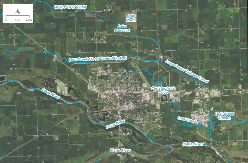 Columbus area water reference map