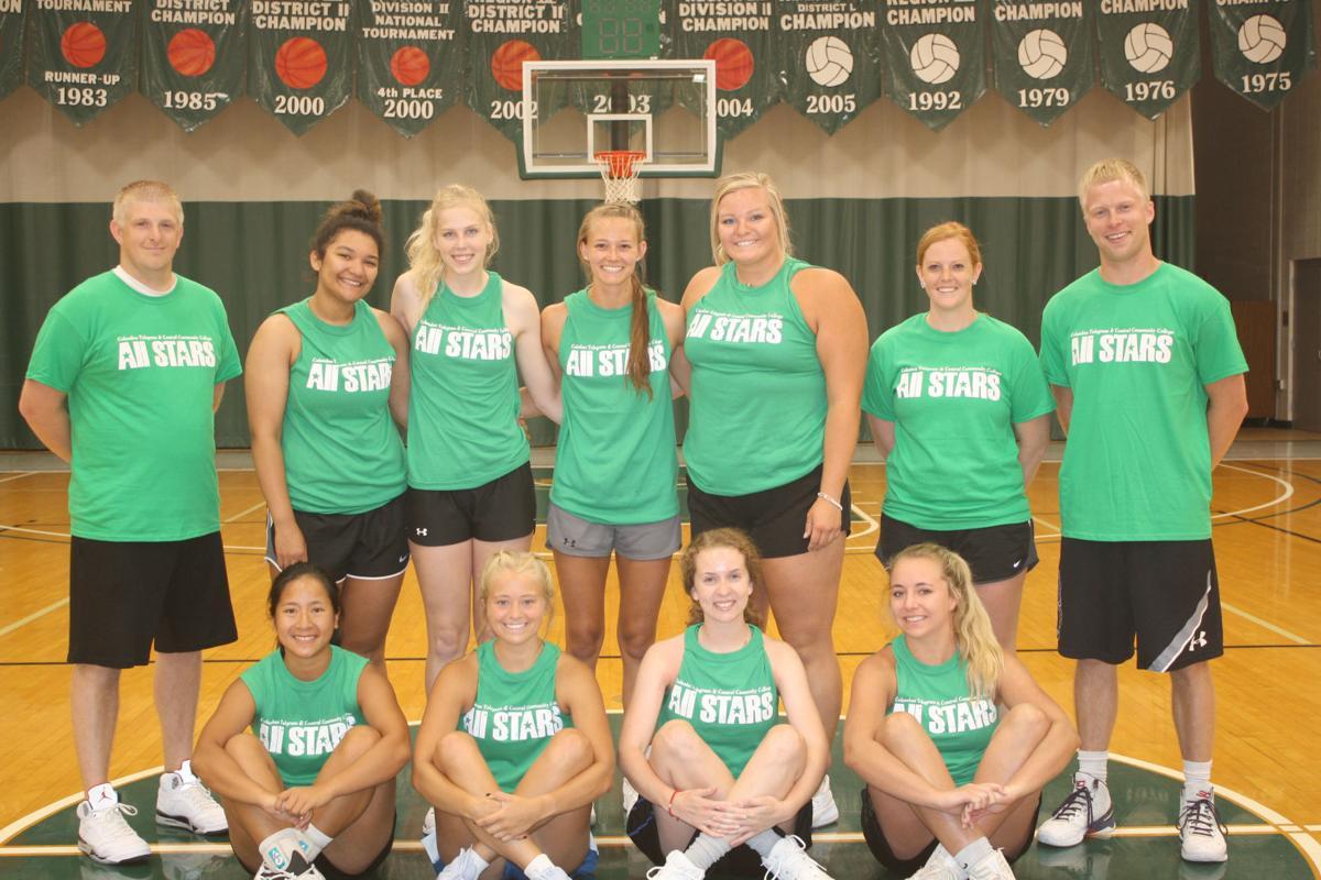 Green team girls