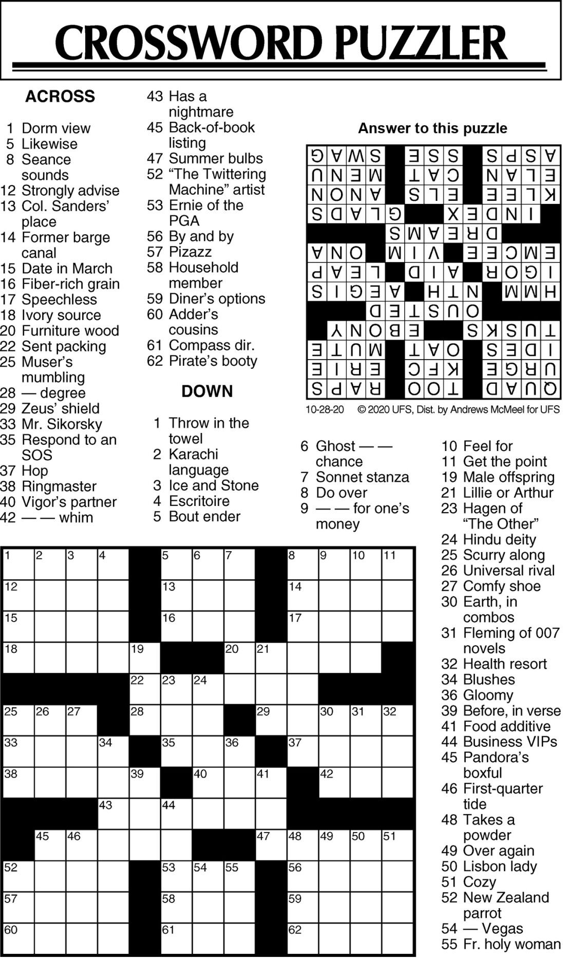 Crossword Puzzle 102820