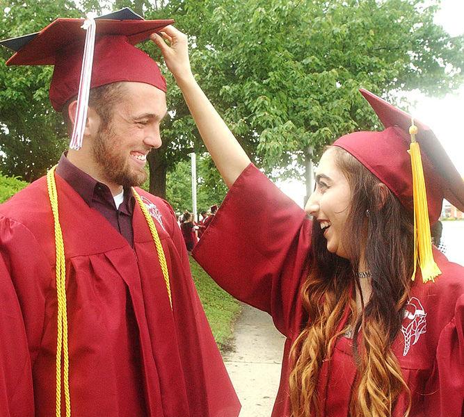 Danville High students celebrate graduation