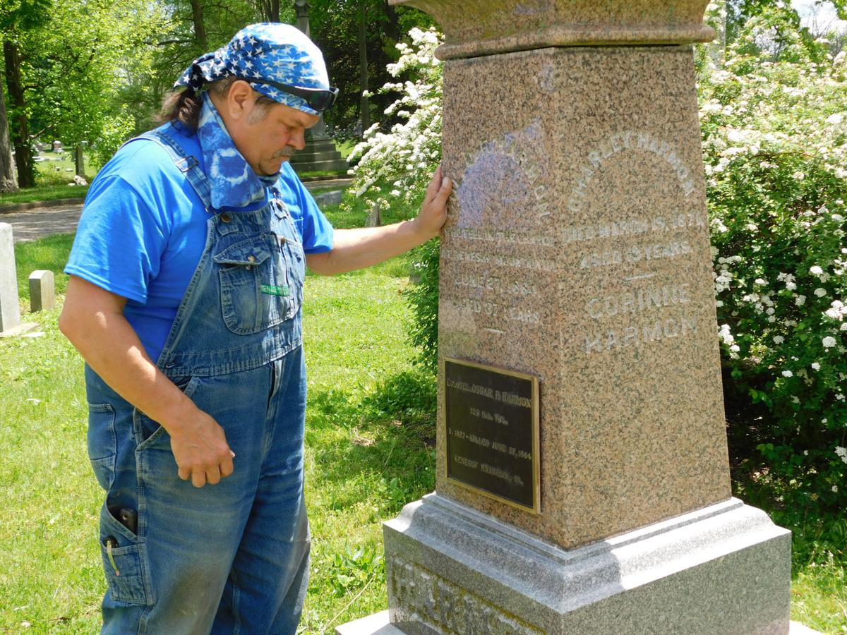 Colonel's marker at Spring Hill uncovered