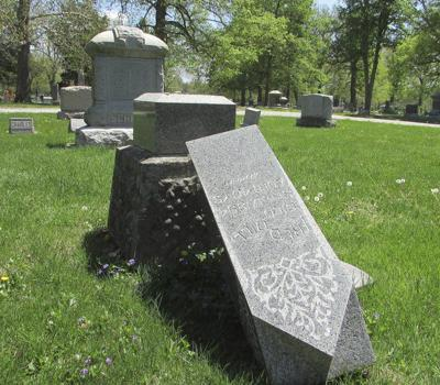 spring hill cemetery markers knocked over local news commercial