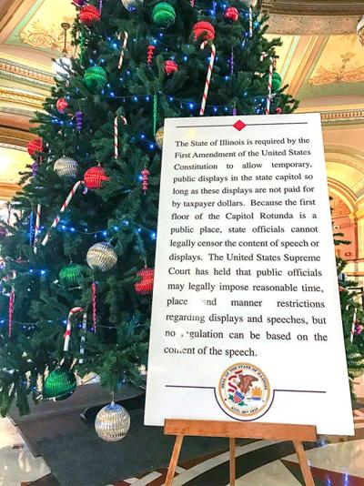 Holiday symbols in Capitol offer wide range of views