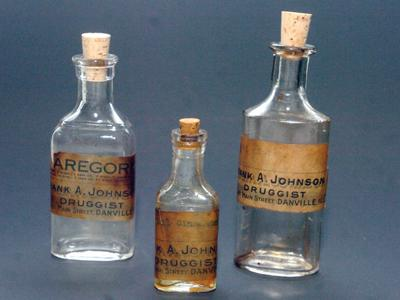 Medicine bottles are relics from past