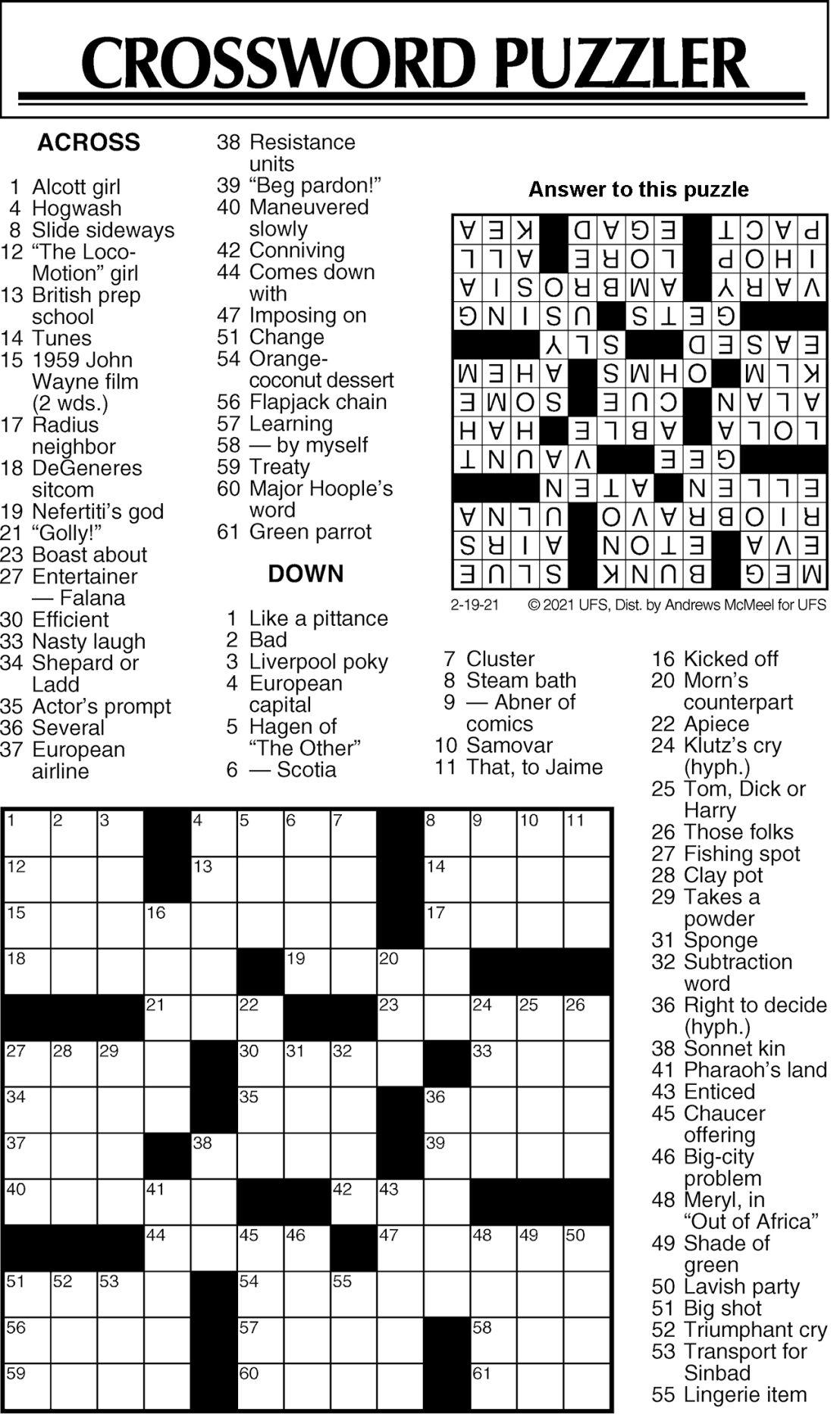 Puzzle 021921