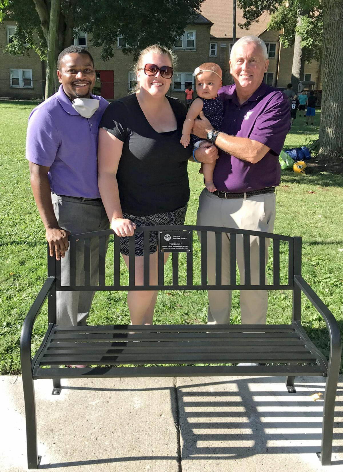 Bench at YM  honors Alexander