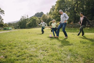 Playing Football With Grandad