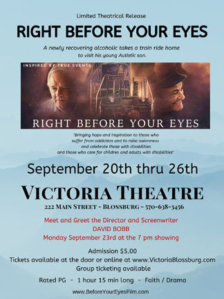 Movie poster for 'Right Before Your Eyes'