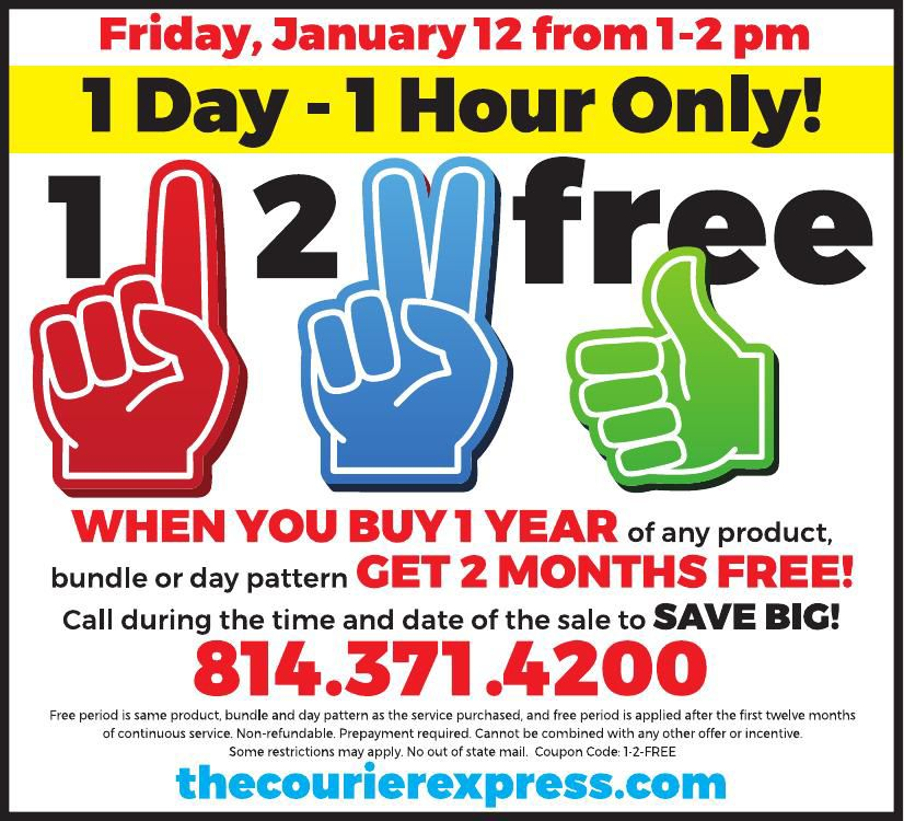 1-2-Free Circulation Sale