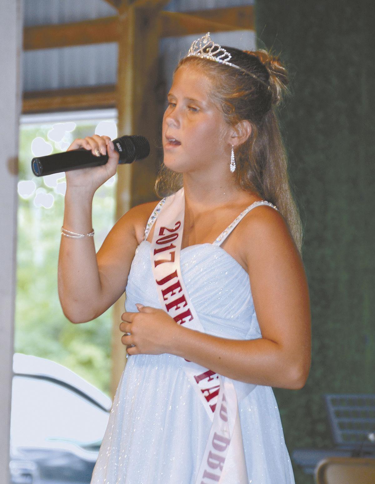 2017 fair princess sings