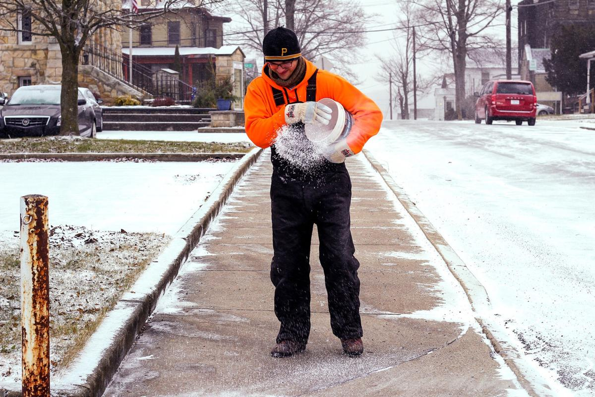 Salting the sidewalks