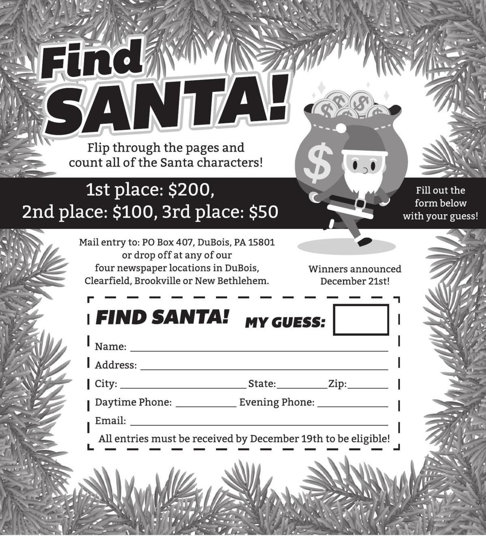 Find Santa Bargain Book contest