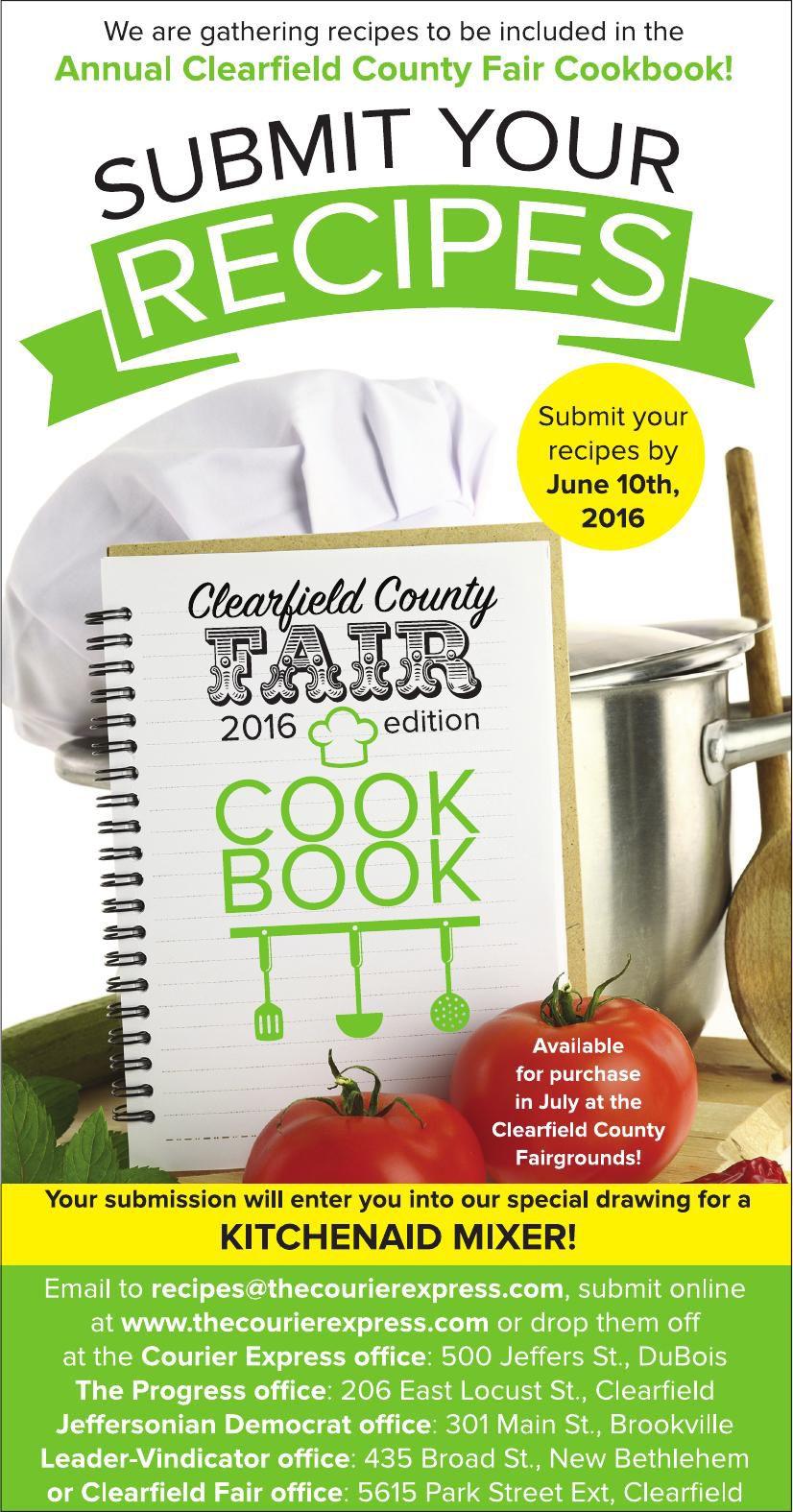 Clearfield Fair Cookbook promo