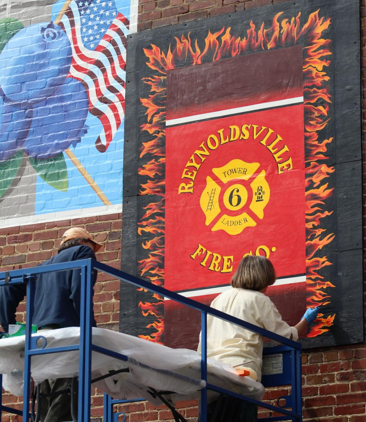Reynoldsville Fire Department mural