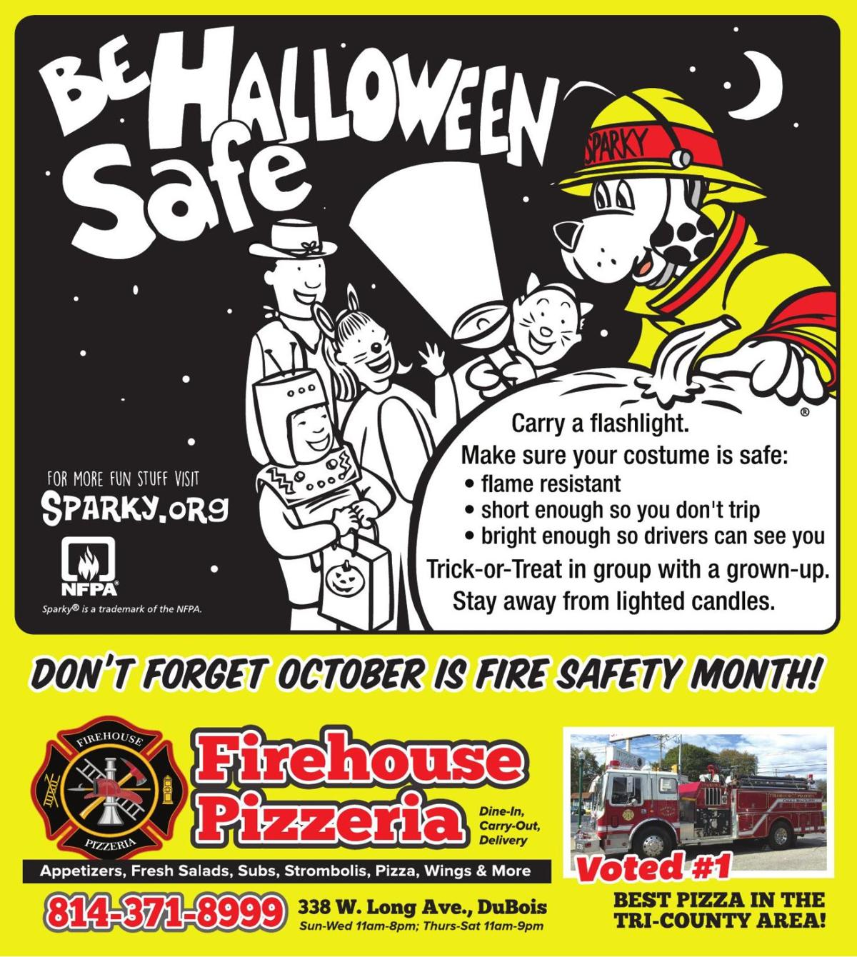 Firehouse Pizza - Coloring Page for Fire Safety Month