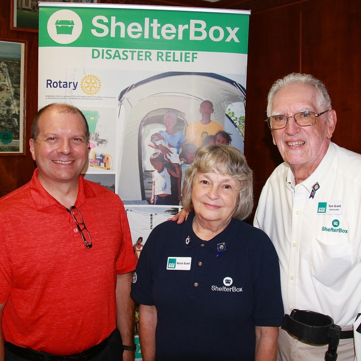 ShelterBox ambassadors are guest speakers at Rotary meeting