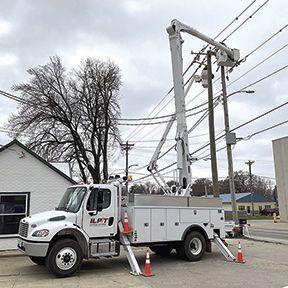Highway 150 ILPT pole work photo
