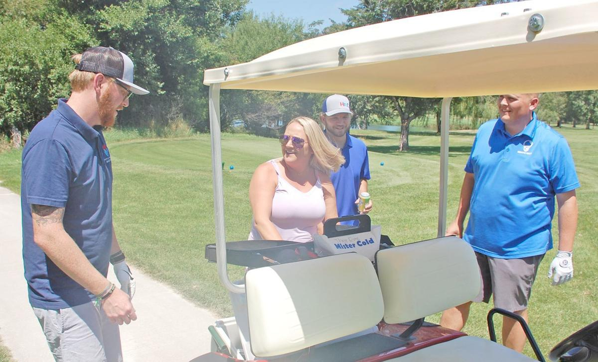 Chantelle Williams and beverage cart