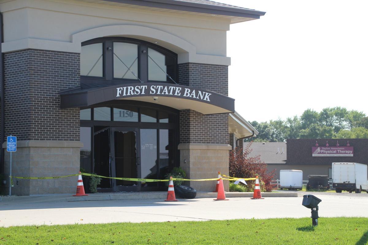 First State Bank damaged