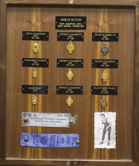 Merle Roths trophy case