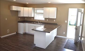 Open design of kitchen