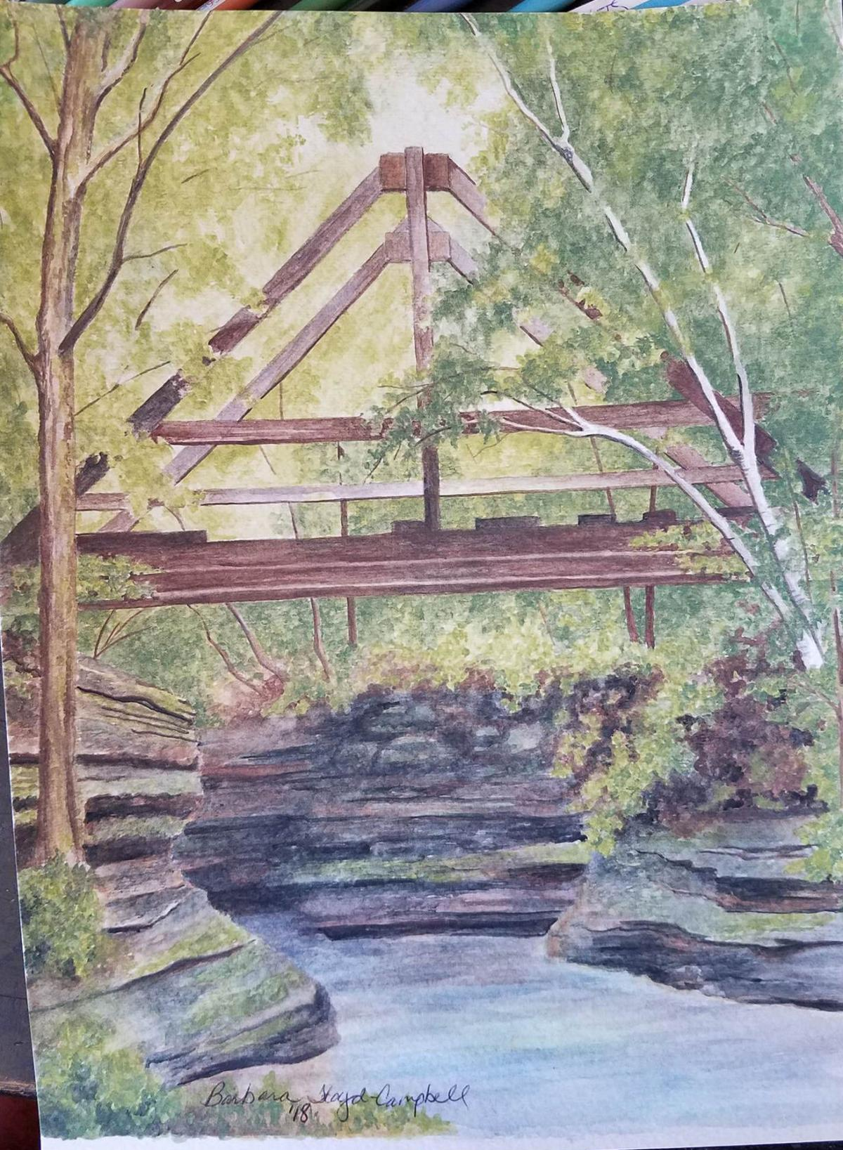 Campbell's water color advancing to state competition