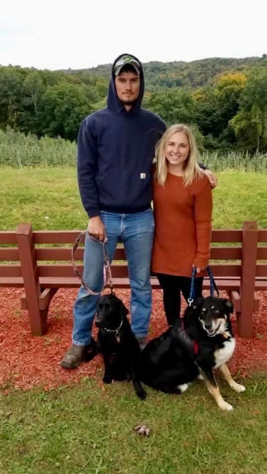 Lee and husband and dogs
