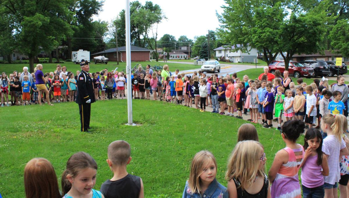 Wings Park Elementary Flag Cermony