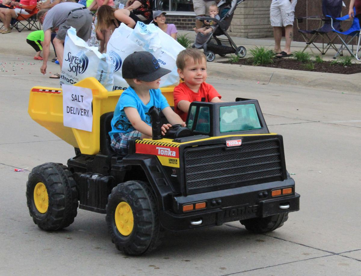 Oelwein Celebration parade: dump truck