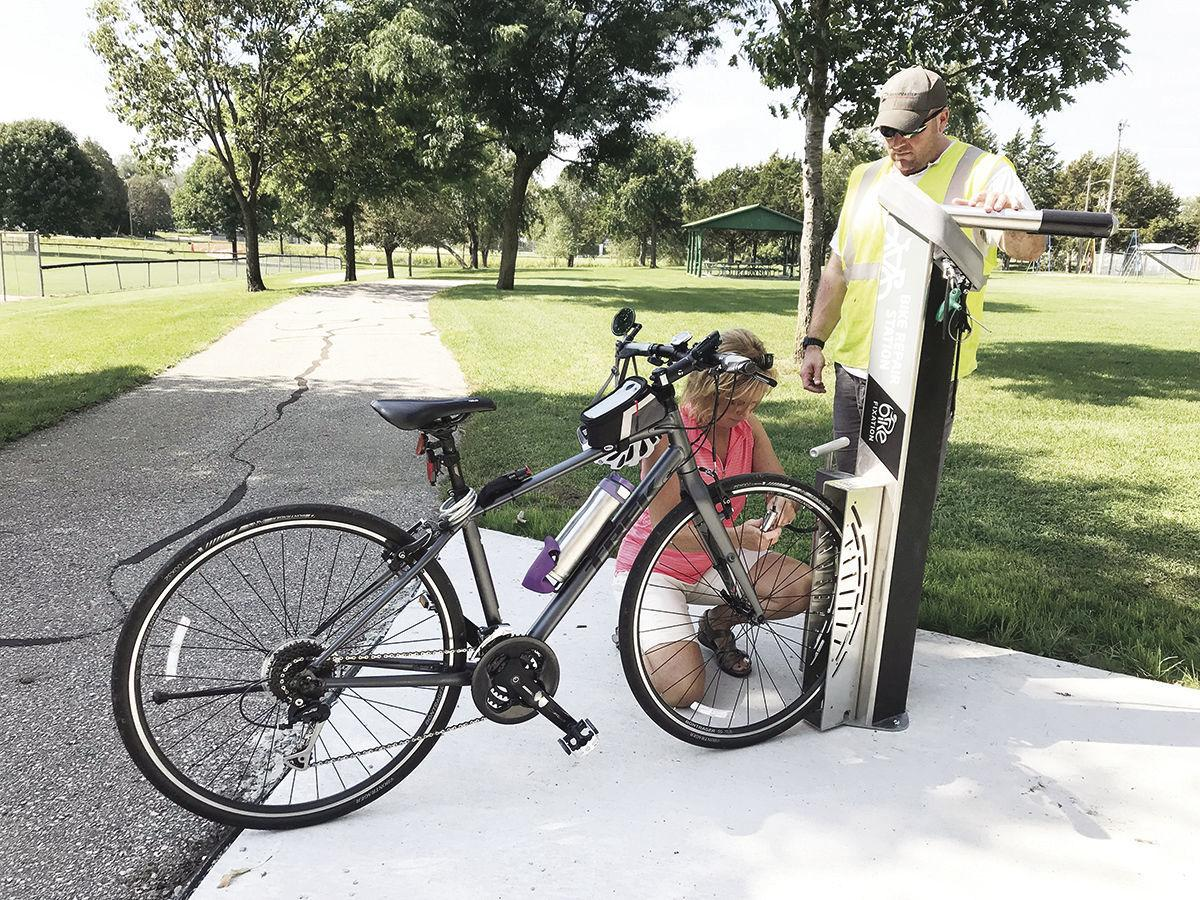 New features completed along recreation trail at Wings Park