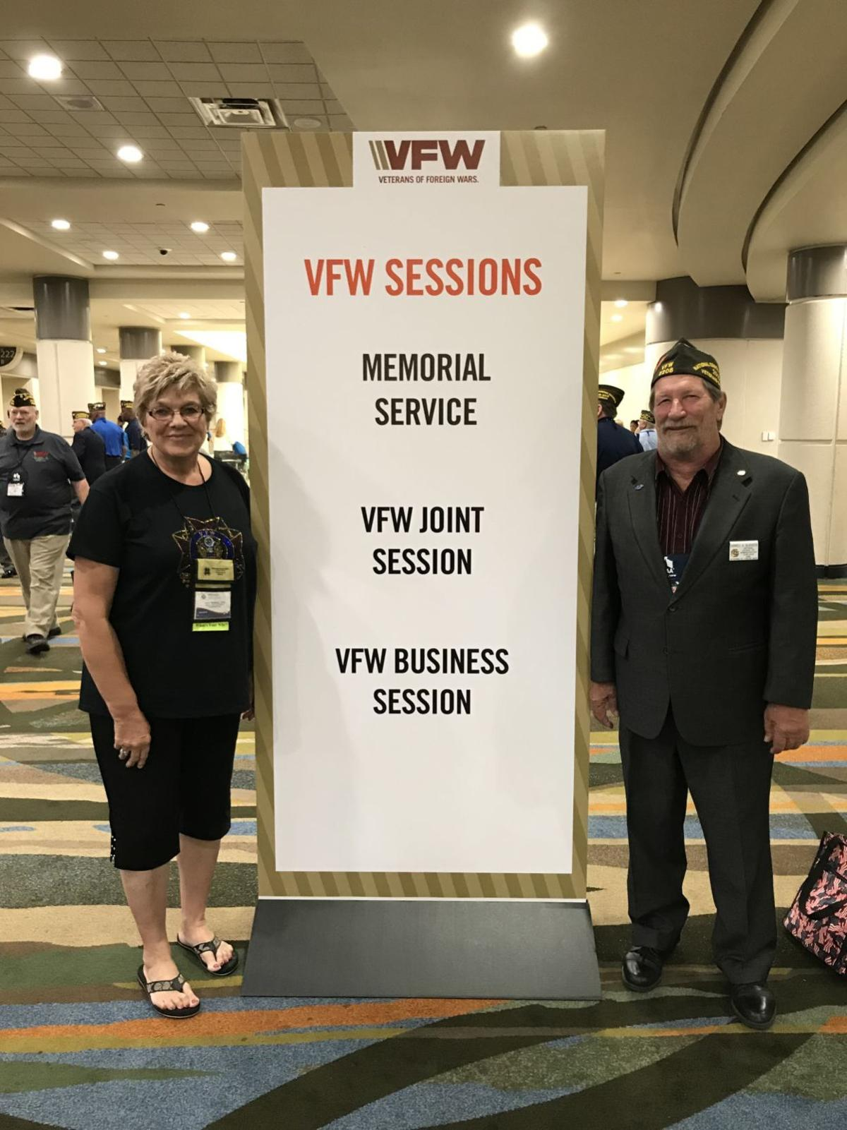 Blasbergs at VFW convention