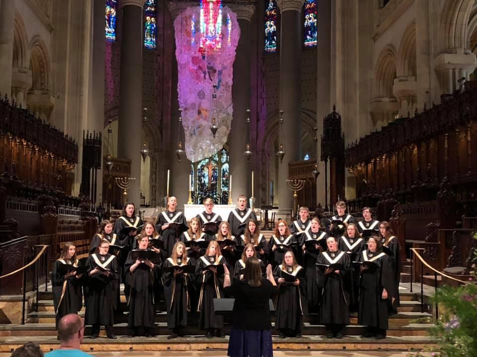 Choir sings
