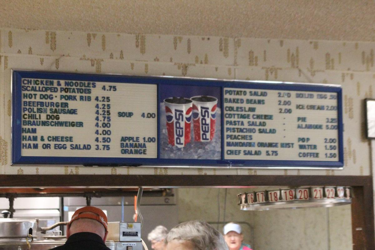 Menu in the Waverly Midwest Horse Sale kitchen