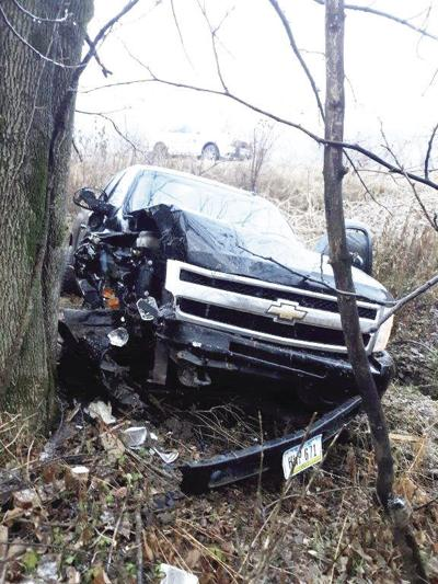 Driver sustains minor injuries after slippery road mishap